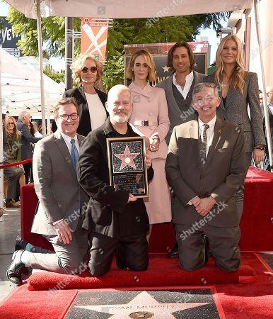 Stock Picture of Kevin James, Jessica Lange, Ryan Murphy, Sarah Paulson, Brad Falchuk, Leron Gubler, Gwyneth Paltrow