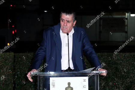 Haim Saban speaks at the Academy Museum of Motion Pictures' Unveiling of the Saban Building event at the Petersen Automotive Museum, in Los Angeles