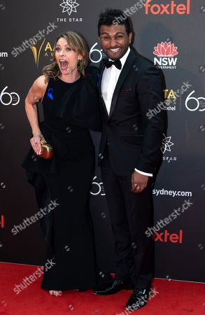 Stock Image of Kat Stewart and Nazeem Hussain