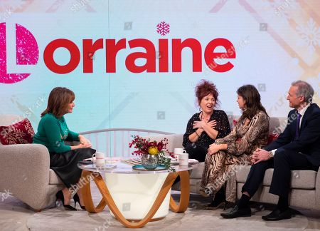 Lorraine Kelly, Tracey O'Keefe and Deborah James with Dr Hilary Jones