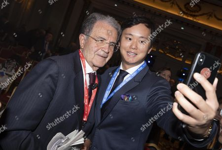 Italy's Former President Romano Prodi (L) during Boao Forum for Asia Rome Conference in Rome, Italy, 05 December 2018. The meeting aims to bring together Asian and European leaders in a dialogue to promote new Asia-Europe partnerships and cooperations.