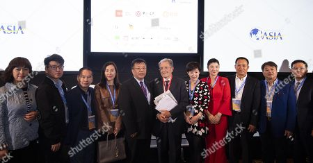 Italian former Prime Minister, Romano Prodi (C), during Boao Forum for Asia Rome Conference in Rome, Italy, 05 December 2018. The meeting aims to bring together Asian and European leaders in a dialogue to promote new Asia-Europe partnerships and cooperations.