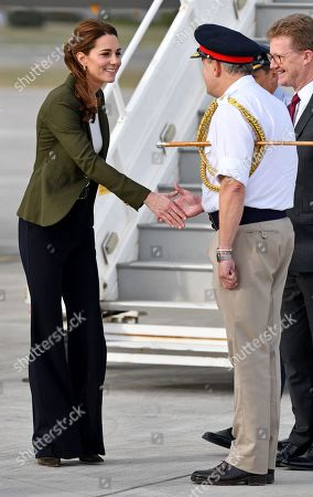 Prince William and Catherine Duchess of Cambridge visit military personnel, Cyprus