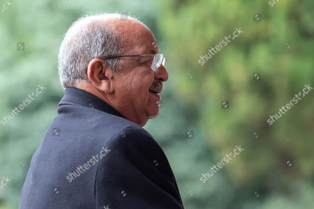 Algerian Foreign Minister Abdelkader Messahel arrives for a roundtable on Western Sahara at the European headquarters of the United Nations in Geneva, Switzerland, 05 December 2018.