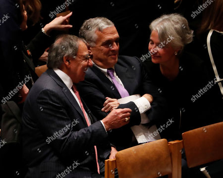 Former Secretary of Defense Leon Panetta (L) during the funeral services for former United States President George H. W. Bush at the National Cathedral, in Washington, DC, USA, 05 December 2018. George H. W. Bush, the 41st President of the United States (1989-1993), died in his Houston, Texas, USA, home surrounded by family and friends on 30 November 2018. The body will return to Houston for another funeral service before being transported by train to the George Bush Presidential Library and Museum for internment.