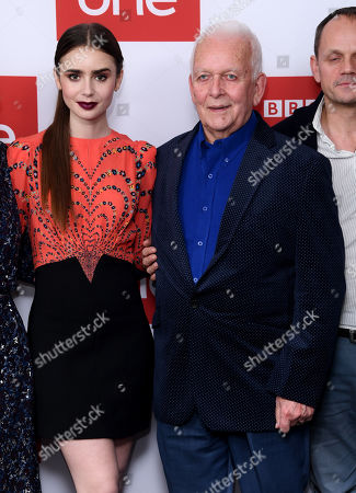 Lily Collins and Andrew Davies
