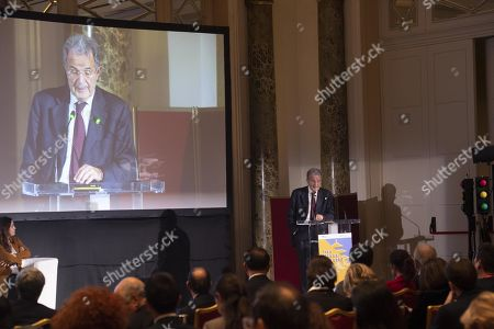 Italy's former prime minister Romano Prodi during the Boao Forum for Asia Rome Conference 2018 in Rome, Italy, 05 December 2018. The conference, under the theme 'Asia-Europe Leaders? Cooperation Dialogue', runs on 04 and 05 December 2018 in Rome.