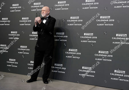 Photographer Albert Watson takes pictures on the occasion of the 2019 Pirelli Calendar event in Milan, Italy