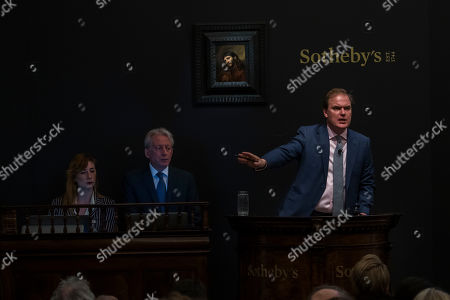 Harry Dalmeny and Rembrandt 'Study of the head and clasped hands of a young man as Christ in prayer' est £6-8m sells for £8.2m before commission