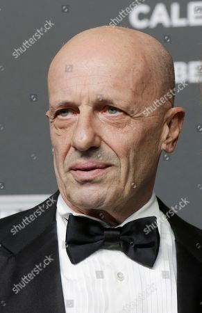 Italian journalist Alessandro Sallusti stands on the red carpet on the occasion of the 2019 Pirelli Calendar event in Milan, Italy