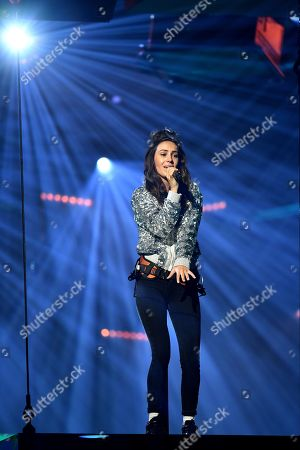 Stock Photo of Amy Shark performs on stage during the 32nd ARIA Awards at The Star in Sydney, New South Wales, Australia, 28 November 2018.