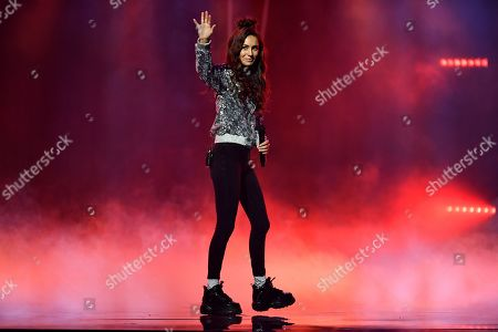 Stock Image of Amy Shark performs on stage during the 32nd ARIA Awards at The Star in Sydney, New South Wales, Australia, 28 November 2018.