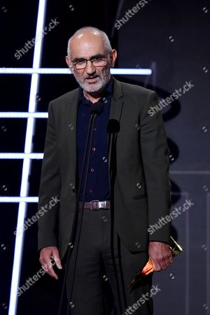 Australian singer Paul Kelly presents the Gold ARIA Award to induct kasey Chambers into the ARIA Hall of Fame during the 32nd ARIA Awards at The Star in Sydney, New South Wales, Australia, 28 November 2018.