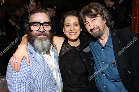 Andy Nyman (Tevye), Judy Kuhn (Golde) and Sir Trevor Nunn (Director)