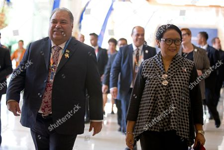 Marsudi Waqa. Indonesian Foreign Minister Retno Marsudi, right, walks with Nauru's President and Minister of Foreign affairs Baron Waqa, left, during an opening of Bali Democracy Forum in Bali, Indonesia on . The 11th Bali Democracy Forum focuses its efforts on delivering prosperity for the people