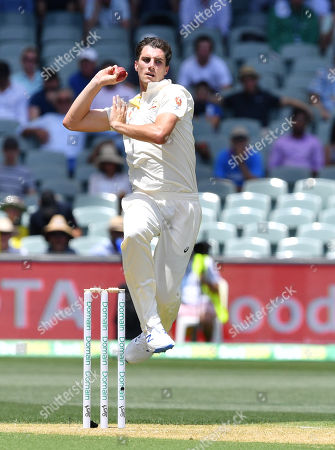 Patrick Cummins of Australia in action during day one of the first Test match between Australia and India at the Adelaide Oval in Adelaide, Australia, 06 December 2018.
