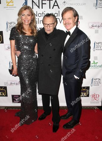 Shawn Southwick, Larry King and William H. Macy