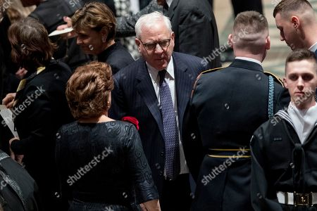 The Carlyle Group co-CEO David M. Rubenstein arrives for a State Funeral the National Cathedral.