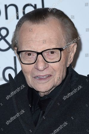 Larry King attends the 2018 National Film & Television Awards at the Globe Theatre, in Los Angeles