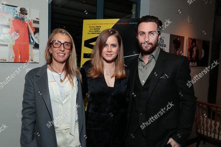 Sam Taylor-Johnson, Amy Adams and Aaron Taylor-Johnson