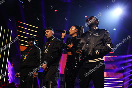 The Black Eyed Peas - apl.de.ap (Allan Pineda Lindo), will i am and Taboo (Jaime Luis Gomez) perform Wings and Just Can't Get Enough with Nicole Scherzinger.