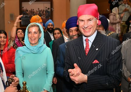 Prince Edward and Sophie Countess of Wessex visit the Gurdwara Sri Guru Singh Sabha, London