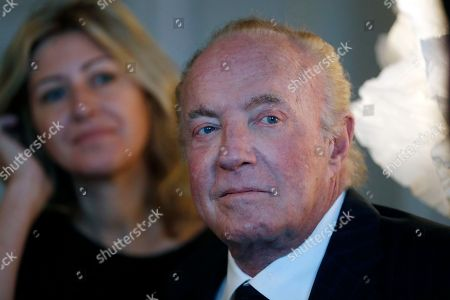 U.S actor James Caan listens to a speech prior to be awarded with the Vermeil Paris medal, at the Paris city Hall, in Paris