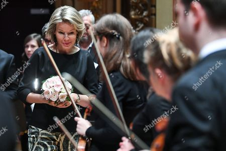 Queen Mathilde visits The Royal Conservatory, Liege