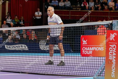 Stock Image of Mansour Bahrami during the Champions Tennis match at the Royal Albert Hall, London. Picture by Ian Stephen