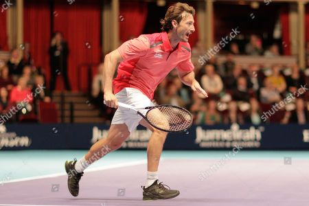 Juan Carlos Ferrero during the Champions Tennis match at the Royal Albert Hall, London. Picture by Ian Stephen