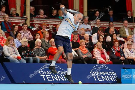 Mansour Bahrami during the Champions Tennis match at the Royal Albert Hall, London. Picture by Ian Stephen