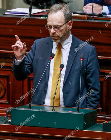 New Flemish Alliance (N-VA) head of group Peter De Roover speaks during a plenary session in Brussels, Belgium, 06 December 2018. Reports state that the Belgian Parliament has to vote on the UN migration pact during the session on 06 December 2018.