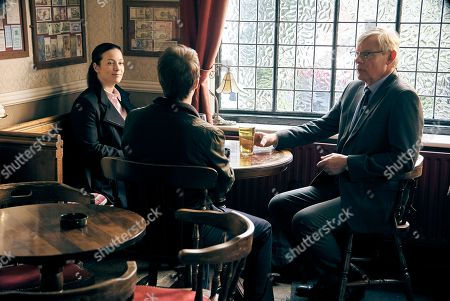 Stock Picture of Martin Clunes as DCI Colin Sutton and Katie Lyons as DS Jo Brunt.