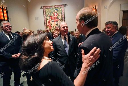 Former US President George W. Bush and Laura Bush talk with Neil Bush and his wife Maria, front left, after a funeral service for former President George H.W. Bush at St. Martin?s Episcopal Church in Houston, Texas, USA, 06 December 2018. Bush died at the age of 94 on 30 November 2018 at his home in Texas. George H.W. Bush was the 41st President of the United States (1989-1993).