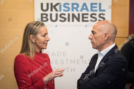 Stock Photo of Baroness Rona Fairhead CBE with Leon Blitz, Chairman of UK Israel Business at Allen and Overy