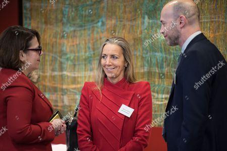 Sharon Bar Li, Deputy Ambassador of Israel to the UK, with Baroness Rona Fairhead CBE and Etay Katz of Allen and Overy