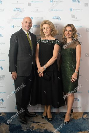 Lord Jon Mendelsohn and Lady Nicola Mendelsohn CBE, Presidents of Norwood, with Lady Wolfson.