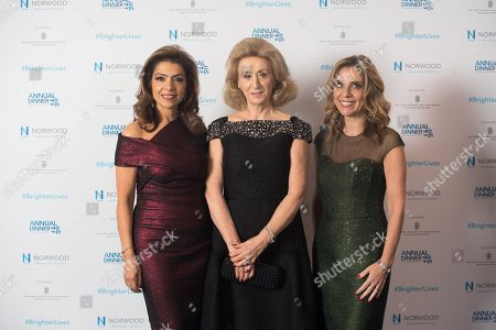 Stock Image of Carol Sopher with Lady Wolfson and Lady Nicola Mendelsohn CBE.