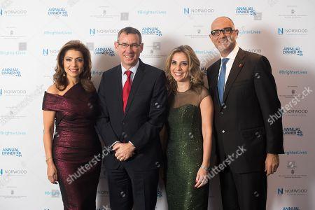 Carol Sopher, Ambassador Mark Regev, Lady Nicola Mendelsohn, Neville Kahn.