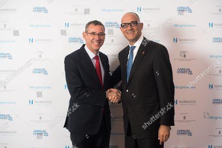 Ambassador Mark Regev with Neville Kahn, Chairman of Norwood.