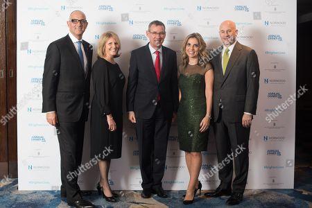 Neville Kahn, Dr. Beverley Jacobson, Ambassador Mark Regev, Lady Nicola Mendelsohn, Lord Jon Mendelsohn.
