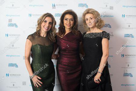 Lady Nicola Mendelsohn, Carol Sopher, Lady Wolfson.