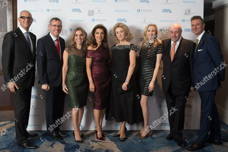 Stock Image of Neville Kahn, Ambassador Mark Regev, Lady Nicola Mendelsohn, Carol Sopher, Lady Wolfson, Antoinette Jackson, Michael Feldman and David Ereira.