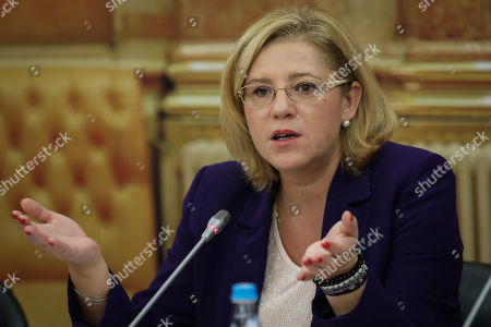 European Commissioner for Regional Policy Corina Cretu speaks during her audition at the Portuguese Parliament Commission for European Matters in Lisbon, Portugal, 06 December 2018.