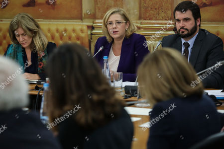 Editorial photo of Corina Cretu audition at Portuguese Parliament, Lisbon, Portugal - 06 Dec 2018