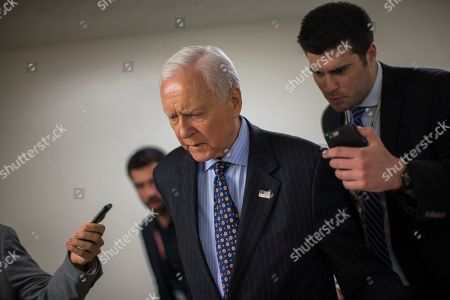 Republican US Senator Orrin Hatch from Utah speaks to the media before voting on the nomination of Bernard McNamee to the Federal Energy Regulatory Commission at the US Capitol in Washington, DC, USA, 06 December 2018.