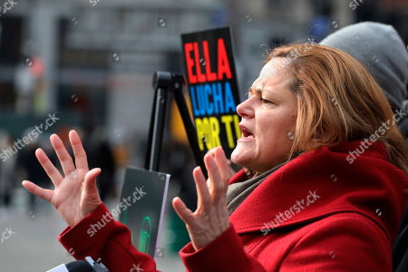 Melissa Mark-Viverito, a candidate for New York City Public Advocate, speaks at a news conference, in New York. The former New York City Council Speaker is proposing to legalize marijuana sales and use the tax revenue to help fund the city's aging subway system