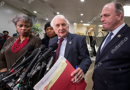 Brenda Lawrence, Brenda Jones, Sander Levin, Dan Kildee. From left, Rep. Brenda Lawrence, D-Mich., Rep. Brenda Jones, D-Mich., Rep. Sander Levin, D-Mich., and Rep. Dan Kildee, D-Mich., speak to reporters after meeting with General Motors CEO Mary Barra to discuss plans for the massive restructuring by the Detroit-based automaker, on Capitol Hill in Washington