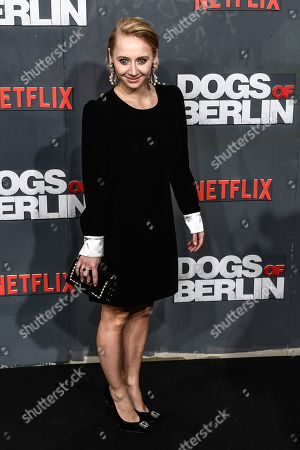 Anna Maria Muehe poses at the world premiere of 'Dogs of Berlin' in Berlin, Germany, 06 December 2018. The first season of the television series is released on Netflix from 13 October on.