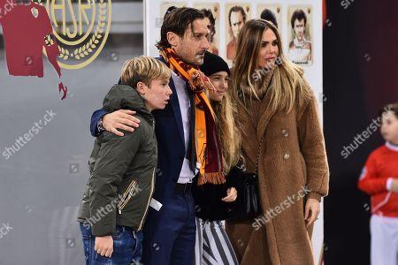 Francesco Totti Ilary Blasi with the children Cristian and Chanel